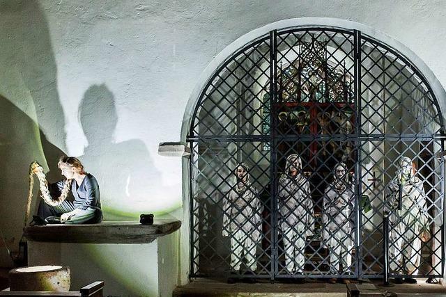 Der Bauer, der Ackermann und der Tod in der St. Oswald-Kapelle im Höllental