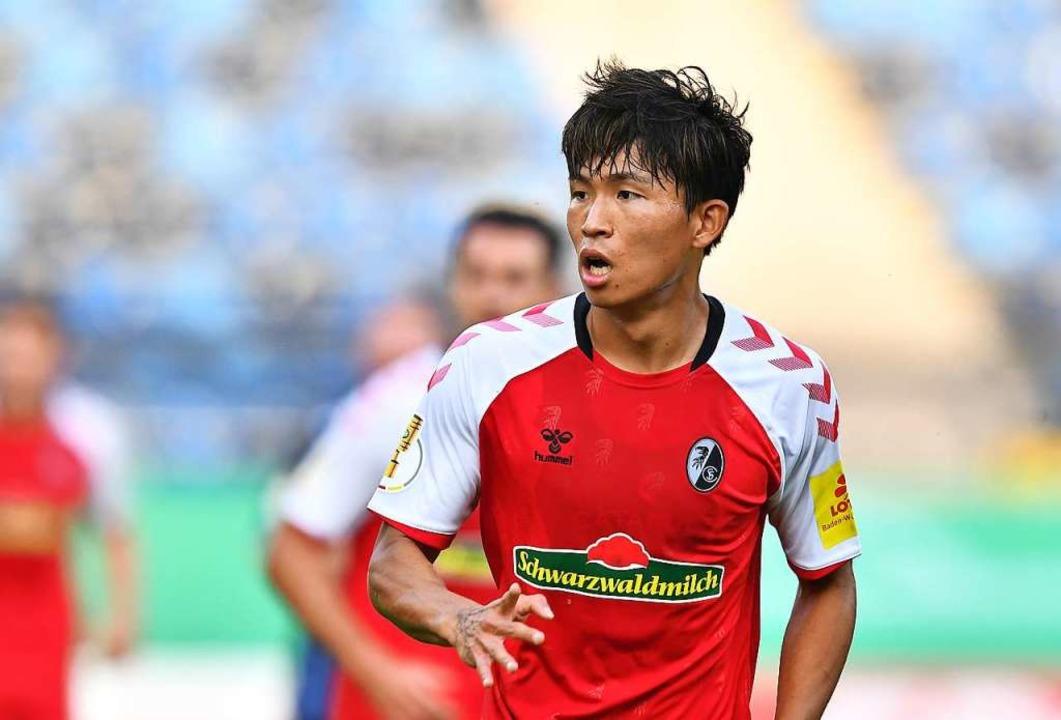 Wooyeong Jeong kam diese Saison bislan...der vier SC-Pflichtspiele zum Einsatz.  | Foto: Achim Keller/SC Freiburg