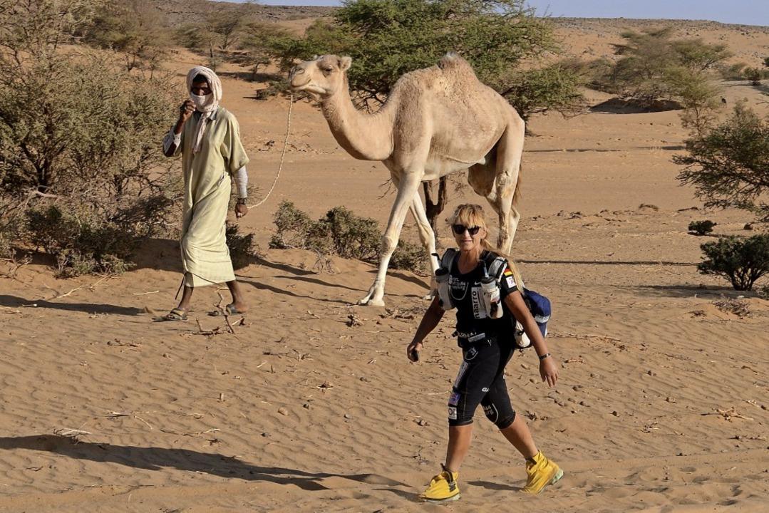 Der Weg ist das Ziel: Brigid Wefelnber...ennen einmal rund um die Welt joggen.   | Foto: Veranstalter