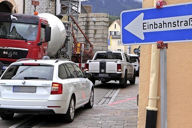 Baustellen in Müllheim stellen Geduld der Autofahrer auf die Probe