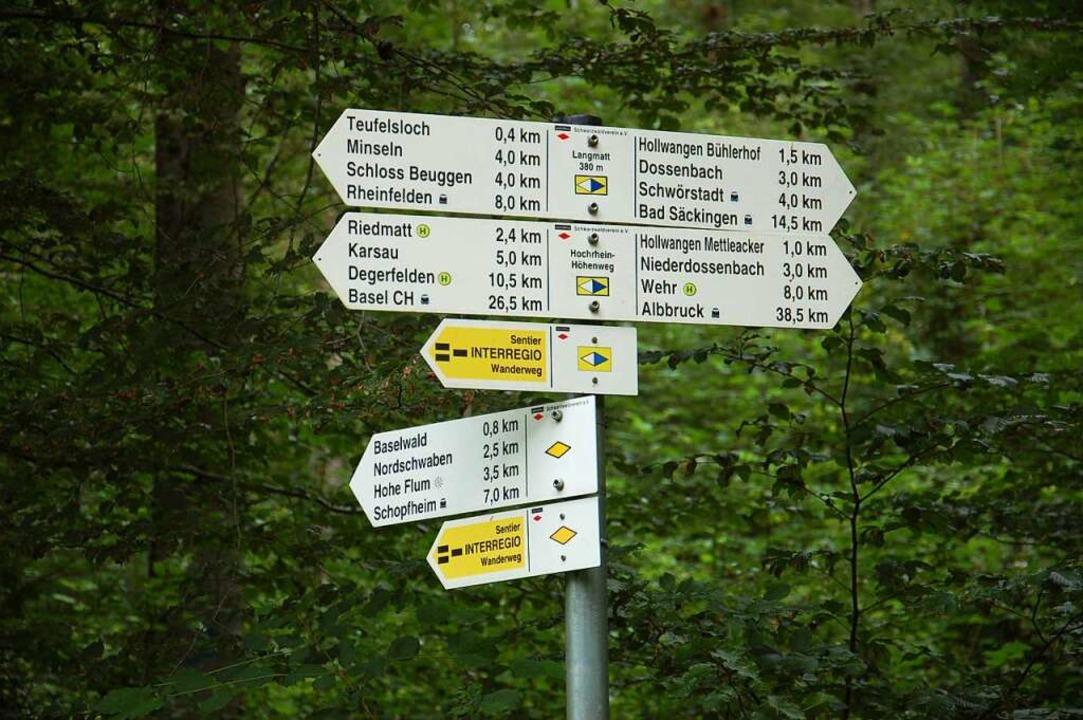 Die gelbe Raute ist unser Zeichen – Richtung Hohe Flum.  | Foto: Franz Schmider