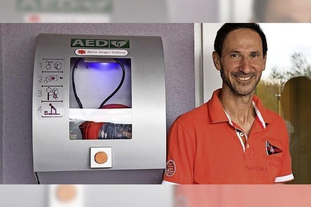 Neuer Defibrillator in Wiechs, Erzeuger fordern Erhalt kleiner Schlachthäuser