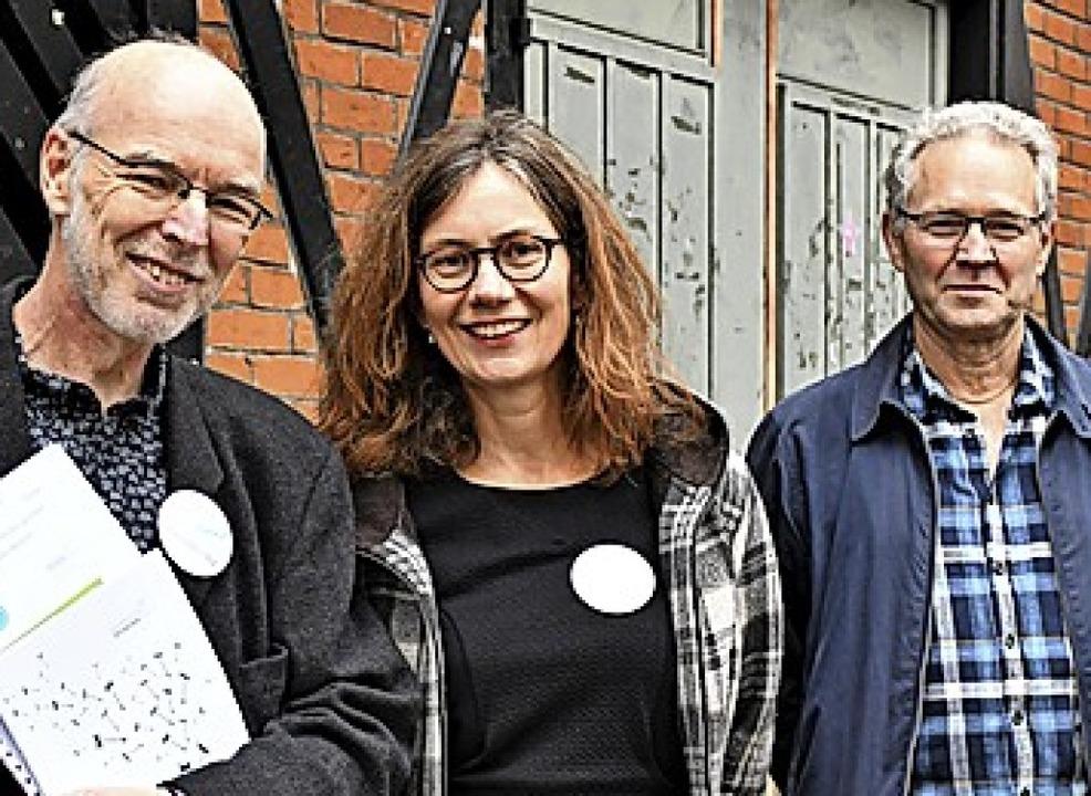 Hartmut Schäfer, Isabell Schäfer-Neudeck und Lutz Knakrügge (l.)    Foto: Barbara Ruda