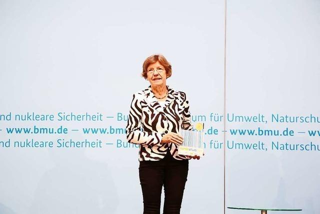 In Berlin nutzt Freiburgs Bürgermeisterin Stuchlik die Umweltpreis-Verleihung für einen Weckruf