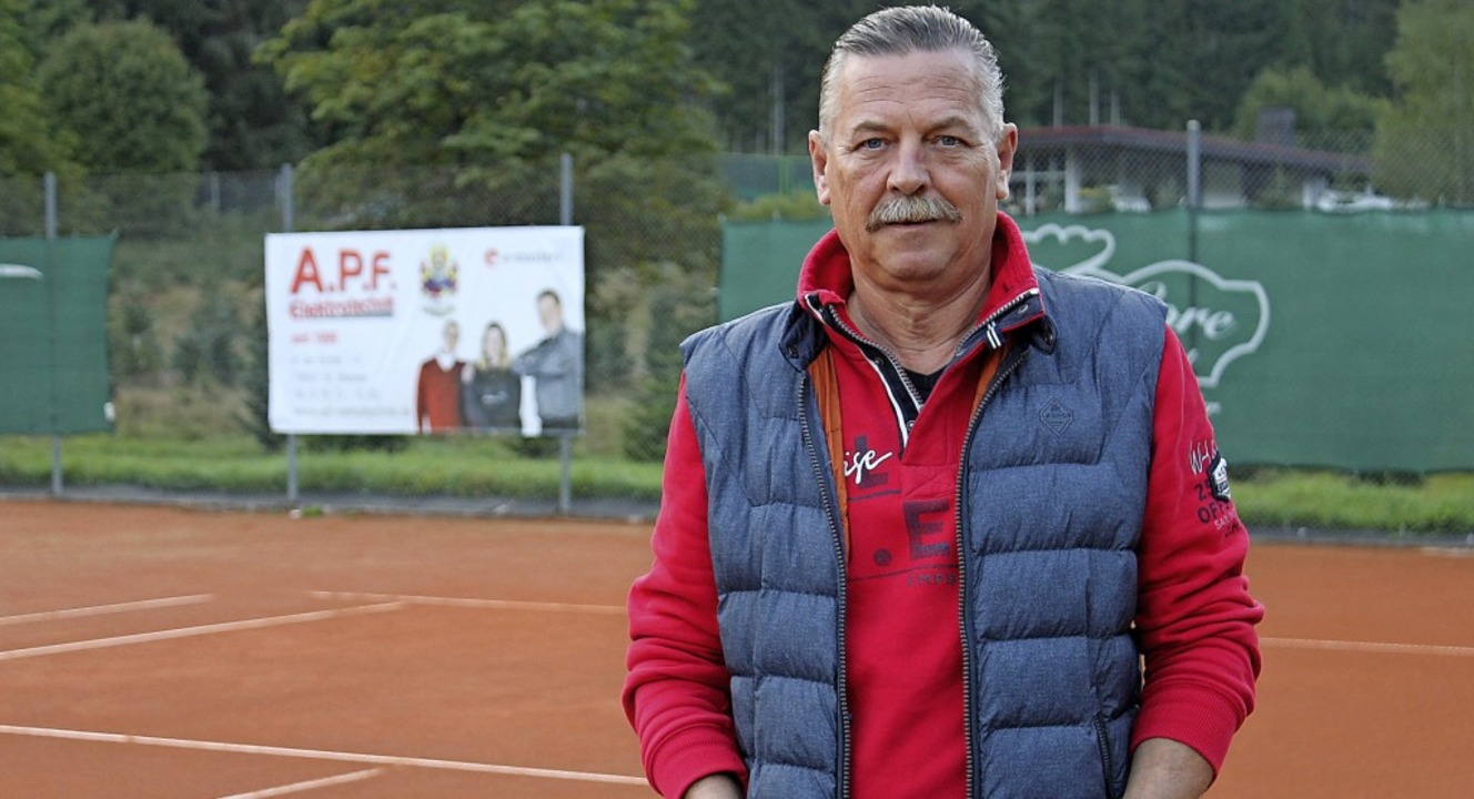 Kurt Stemmer setzt sich stark für den Tennisclub St. Blasien ein.    Foto: Cornelia Liebwein