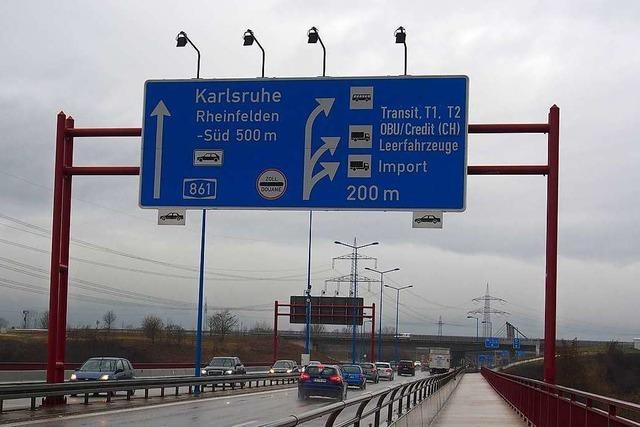 Der Verkehr am Grenzübergang Rheinfelden wird weiter steigen