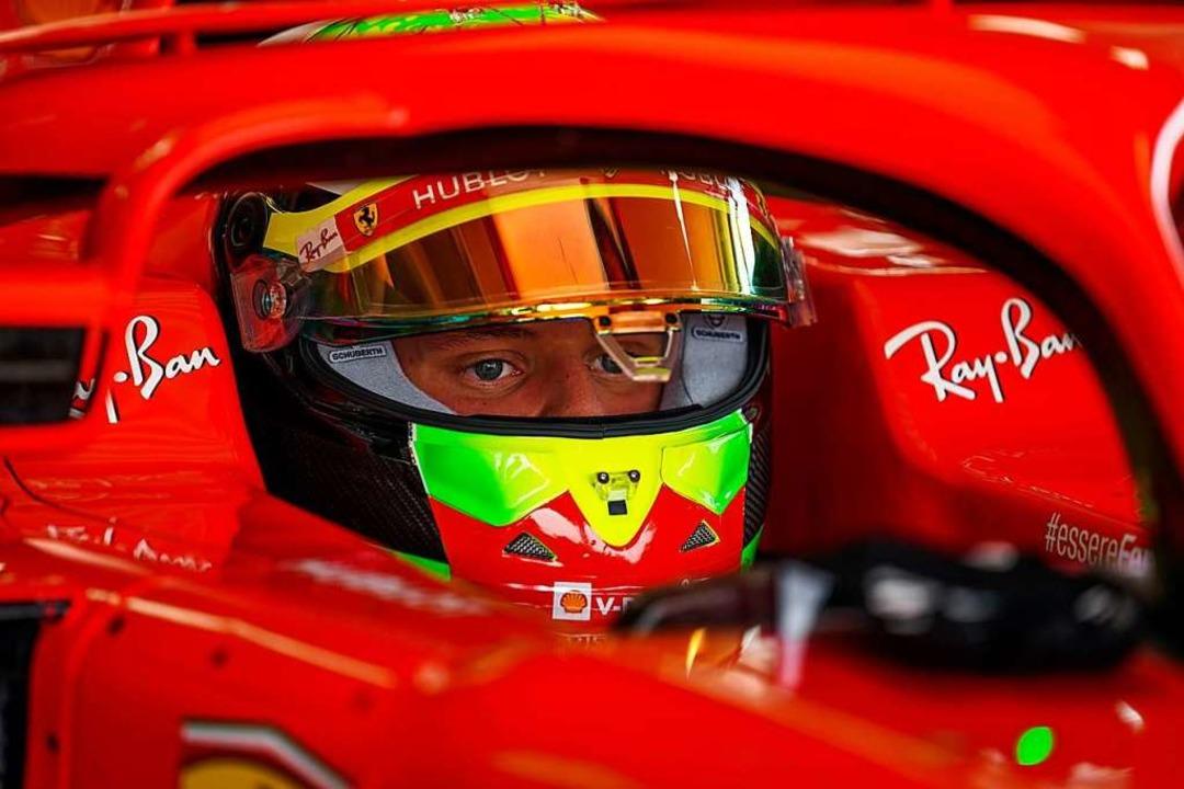 Mick Schumacher fährt die gleiche Takt...pit dient ihm als idealer Rückzugsort.  | Foto: - (dpa)