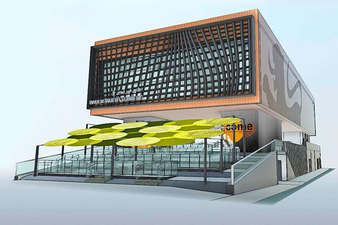 So soll er aussehen:  Diese Computergr...schen Pavillons für die Expo in Dubai.    Foto: Milla und Partner (dpa)