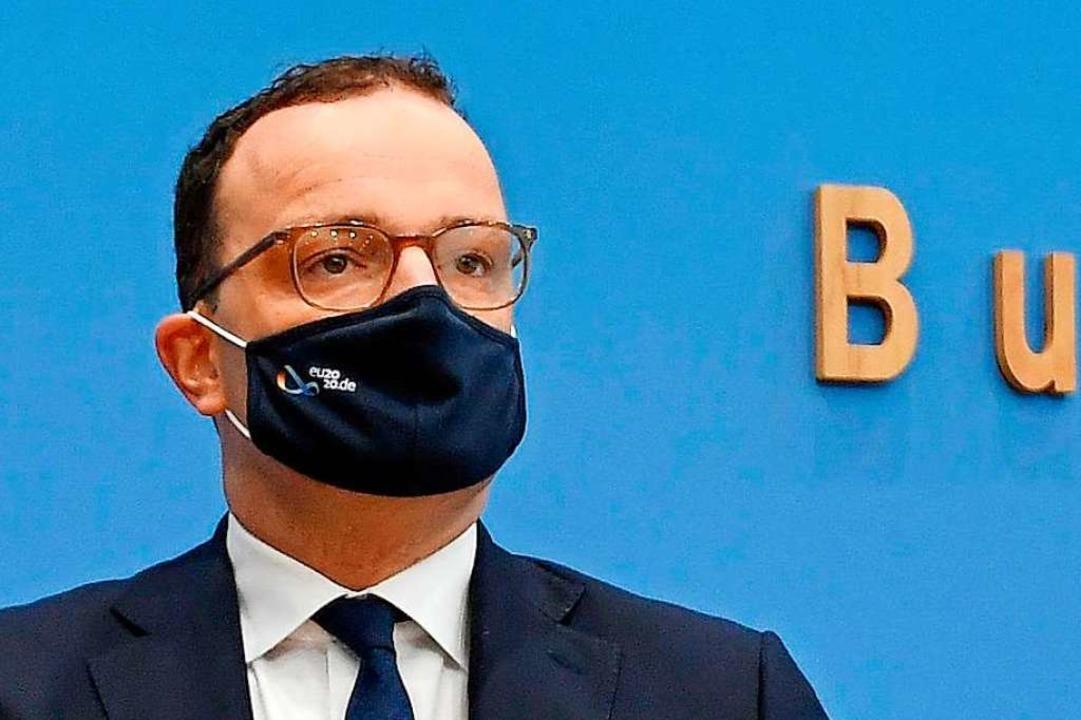 Bundesgesundheitsminister Jens Spahn am Donnerstagmorgen in Berlin.  | Foto: TOBIAS SCHWARZ (AFP)