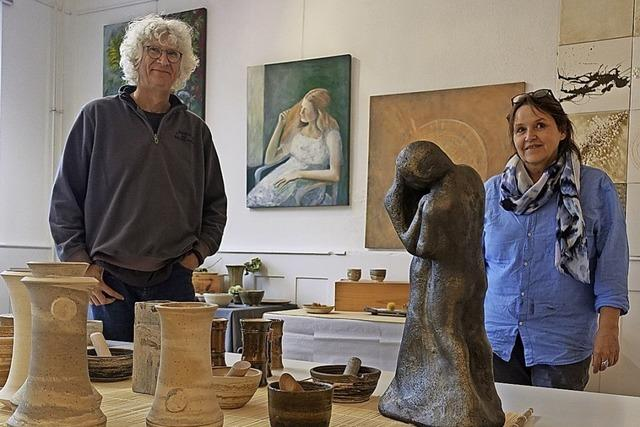 Malerei trifft auf Keramik-Kunst