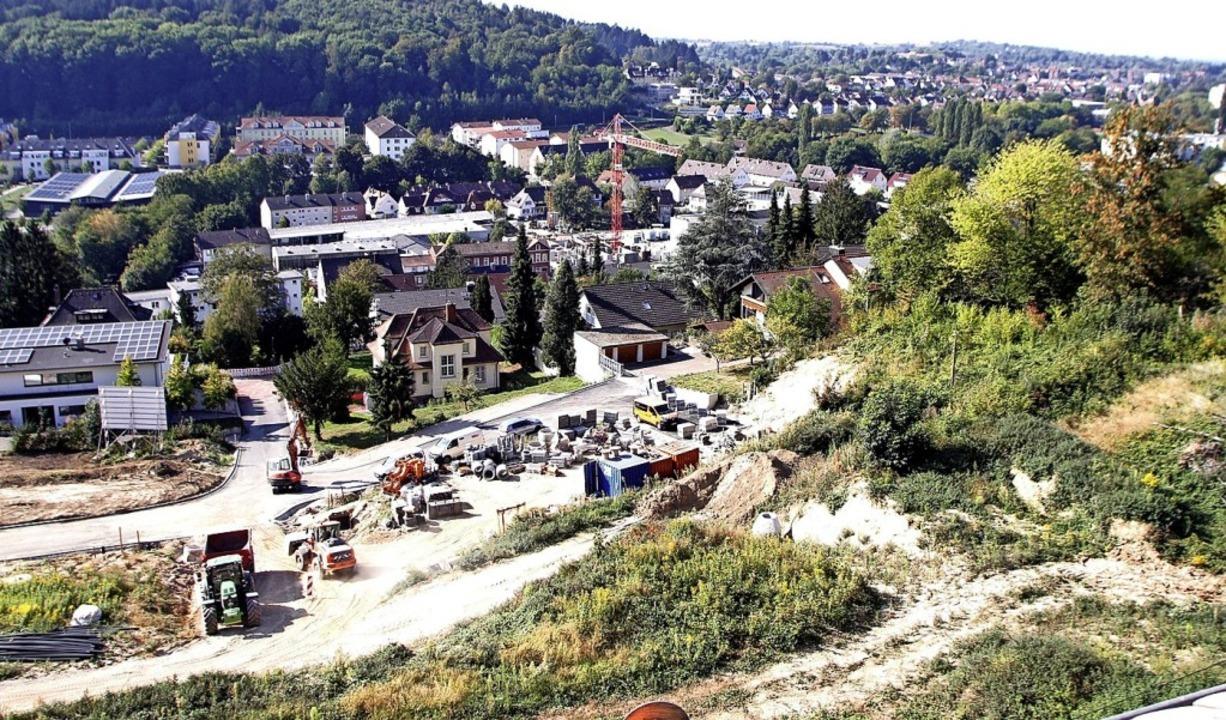 Die Baustelle auf dem Altenberg in Lahr   | Foto: Heidi Fößel
