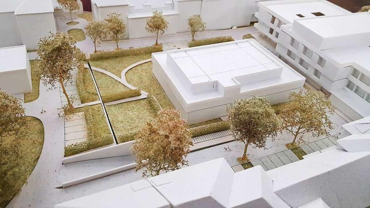 So soll das neue Gebäude  aussehen. Mi...äude für das Betreute Wohnen zu sehen.  | Foto: Christian Kramberg