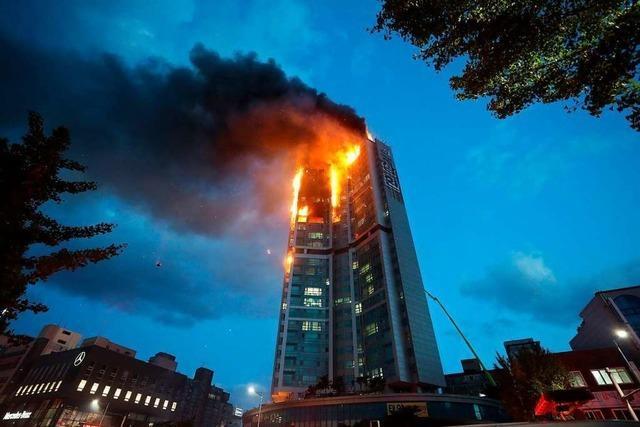 Fast 90 Verletzte bei Hochhausbrand in Südkorea