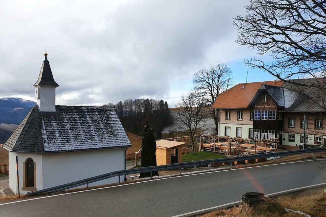 Gasthaus mit Kapelle  | Foto: Frank Schoch