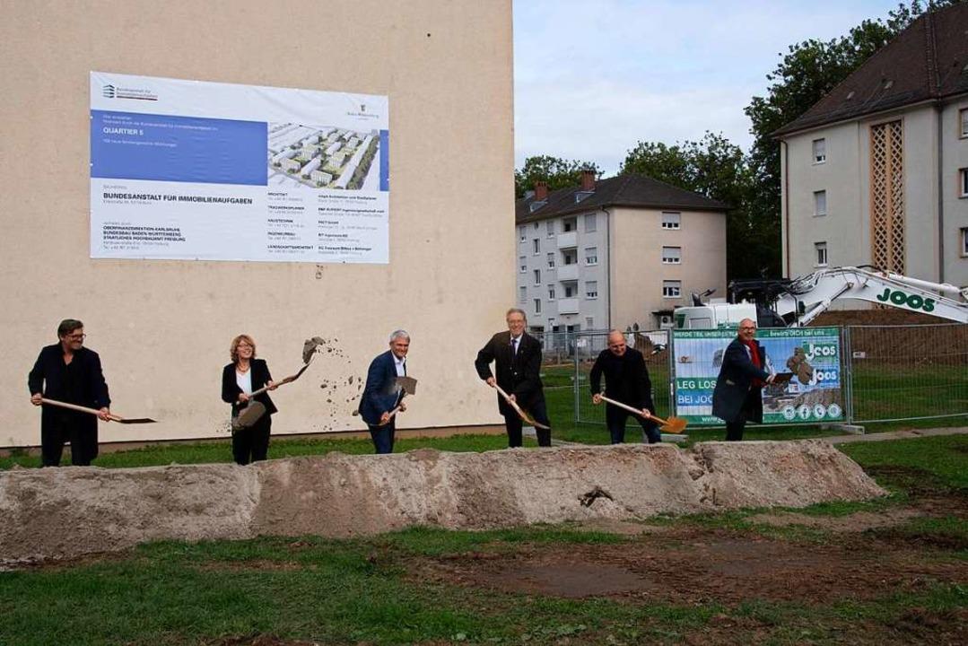 Spatenstich für das neue Quartier 5 in...,  Leiter Bundesbau Baden-Württemberg.  | Foto: Volker Münch