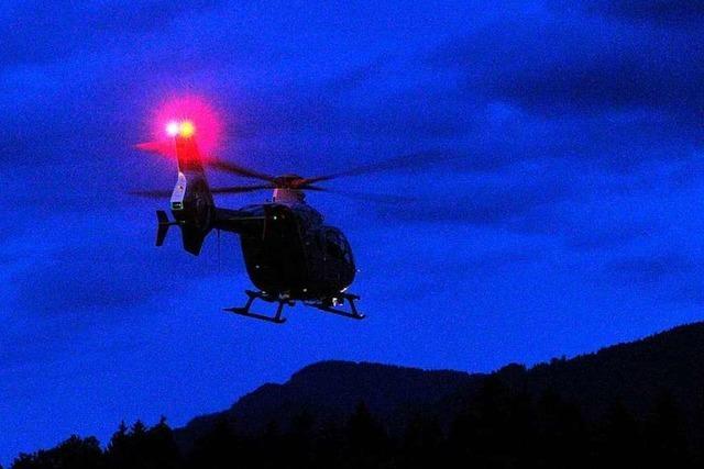 Polizeihubschrauber sucht Betrunkenen am Kaiserstuhl