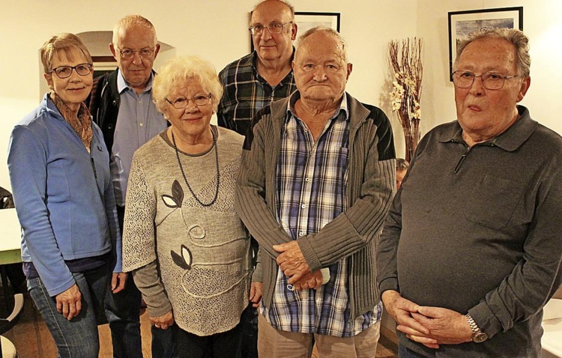 Gehören seit mehr als  50  Jahren der ...ümmel, Bernhard Mutter und Hans Frenk   | Foto: Hansjörg Bader