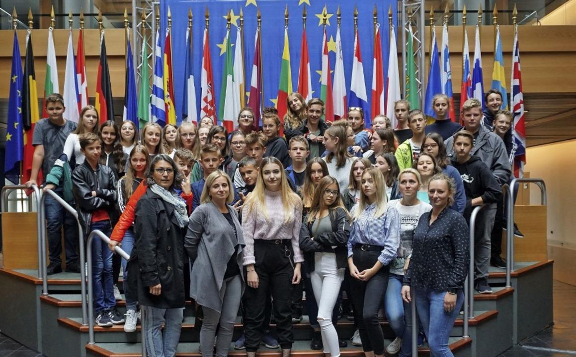 Ein Besuch des Europäischen Parlaments...ch teilnehmen, immer auf dem Programm.  | Foto: Privat