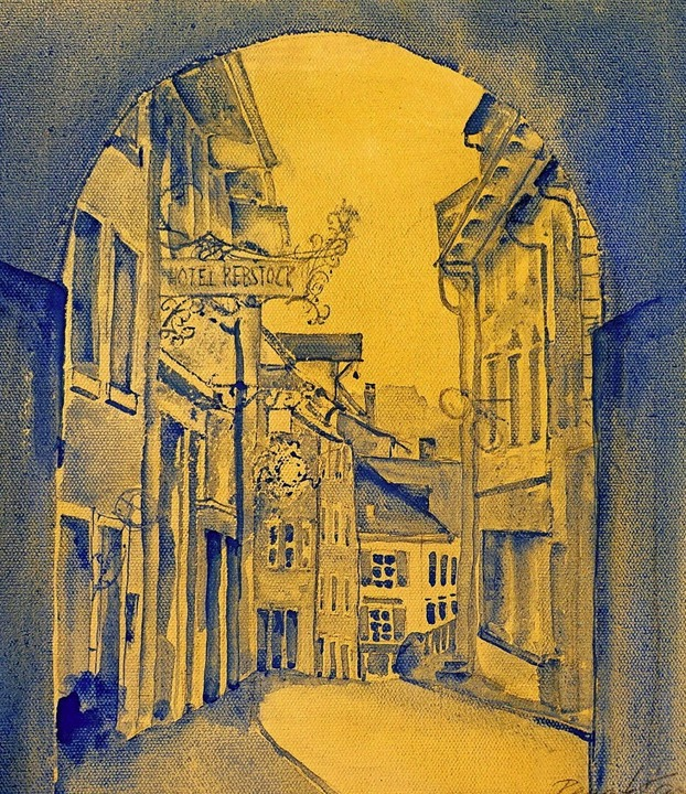 Ein Altstadtbild von Renate Kaiser aus dem badischen Laufenburg    Foto: Roswitha Frey