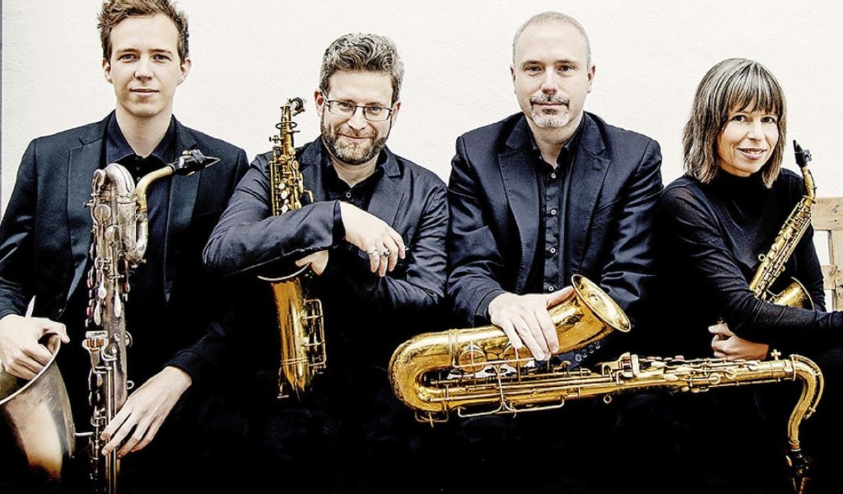 Das  Raschèr Saxophone Quartet hat gute Erinnerungen an den Burghof.   | Foto: Felix Broede