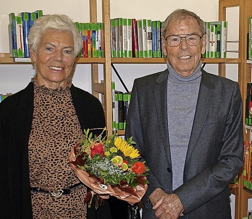 Abschied: Franz Dischinger mit Ehefrau Trudi   | Foto: Paul Schleer