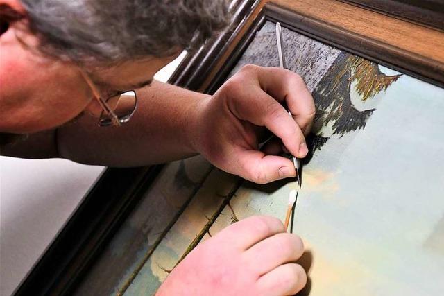 Im Dreiländermuseum Lörrach geben Restaurateure Einblick in ihre Arbeit