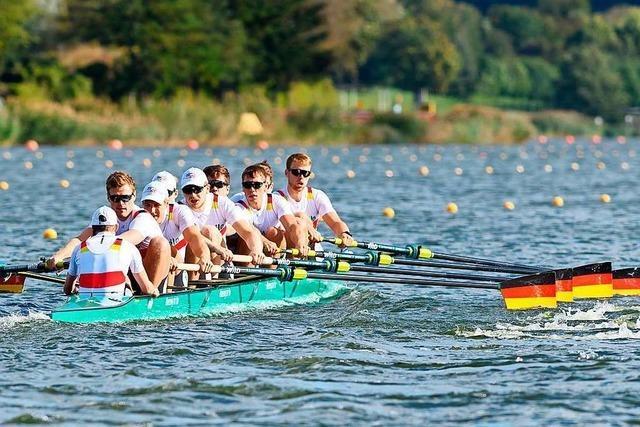 Der Ihringer Jakob Schneider holt mit dem Deutschland-Achter Gold