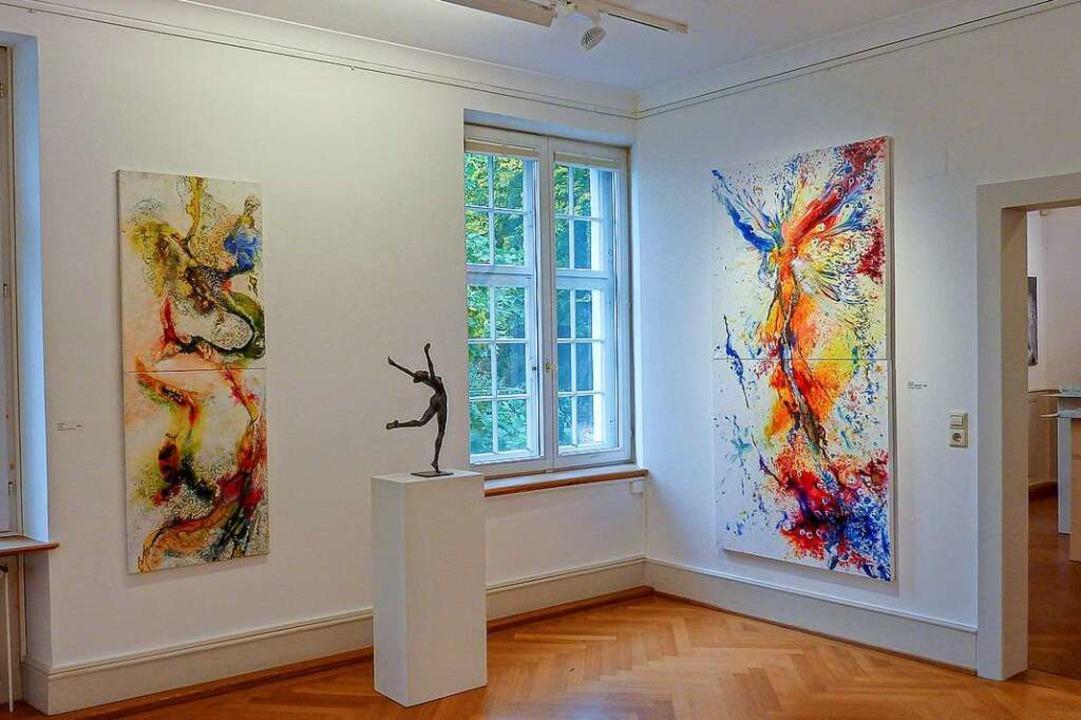 Ein Einblick in die Ausstellung von Pe...d Schmid, die im Sommer gezeigt wurde.    Foto: Stadt Rheinfelden