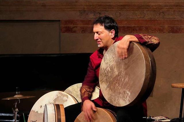 Perkussionist Murat Coskun begeistert in Müllheim