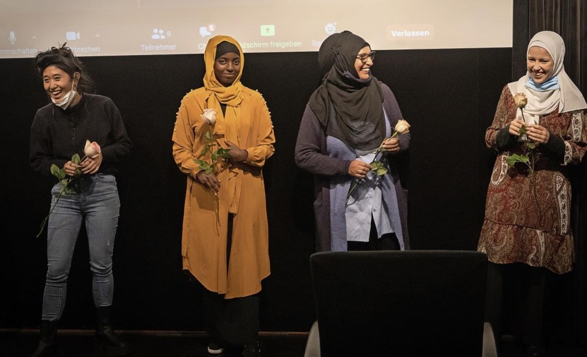 Die Protagonistinnen des Films (von li...Adow, Turpikai Kabiri und Iman Ouadria  | Foto: Severine Kpoti