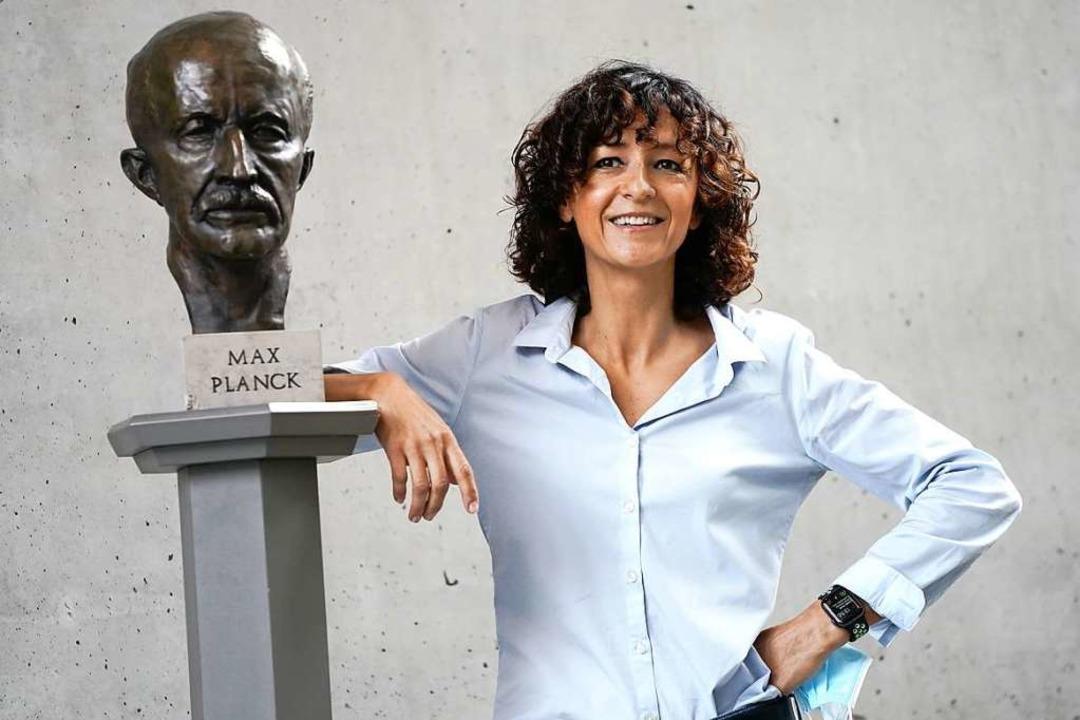Die französische Genforscherin Emmanuelle Charpentier<ppp></ppp>  | Foto: Kay Nietfeld (dpa)