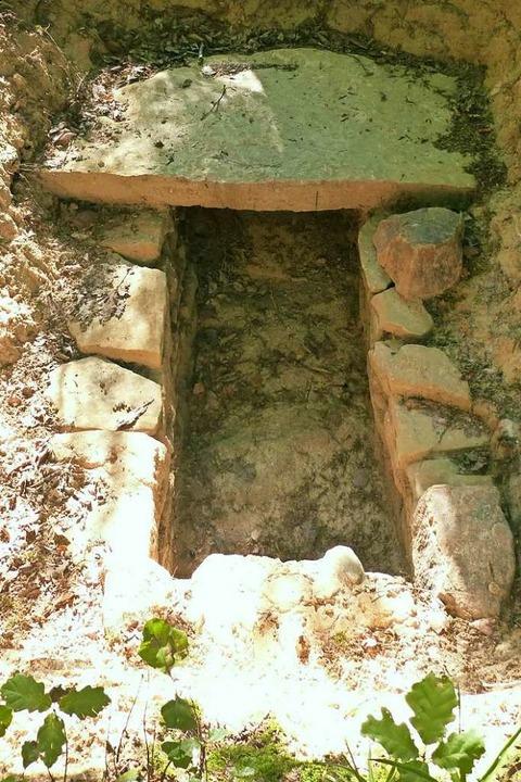 Steinkistengräber der Alemannen am Archäologiepfad Ehrenkirchen  | Foto: Andrea Gallien