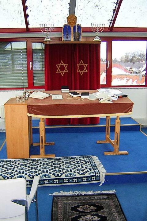 Blick in den Betsaal der Synagoge im e...troturm in der Emmendinger Landvogtei.  | Foto: Gerhard Walser
