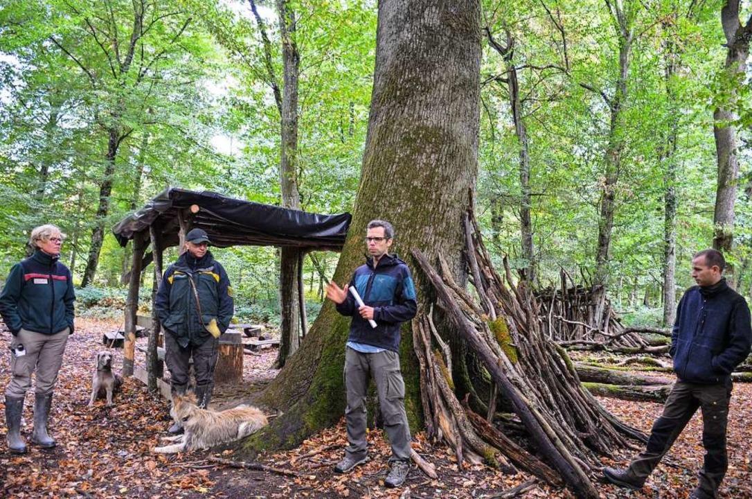 Fledermausexperte Claude Steck (Mitte) berichtet von seinen Untersuchungen.  | Foto: Gabriele Hennicke