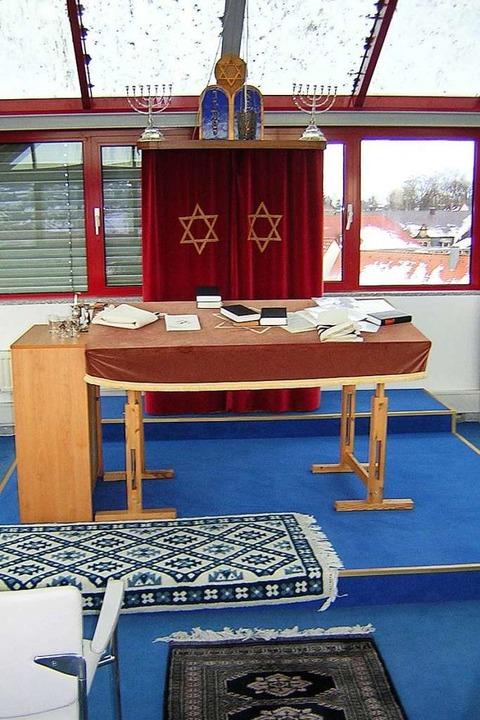 Blick in den Betsaal der Synagoge im e...troturm in der Emmendinger Landvogtei.    Foto: Gerhard Walser