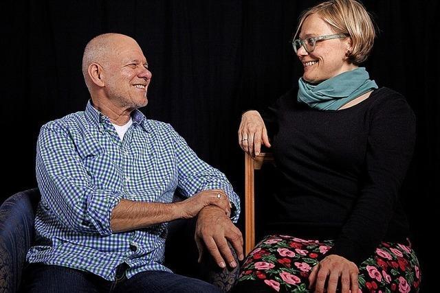 Uli Derndinger und Heinz Siebold schwätze und singe beim Kulturverein Läwe im Lewe