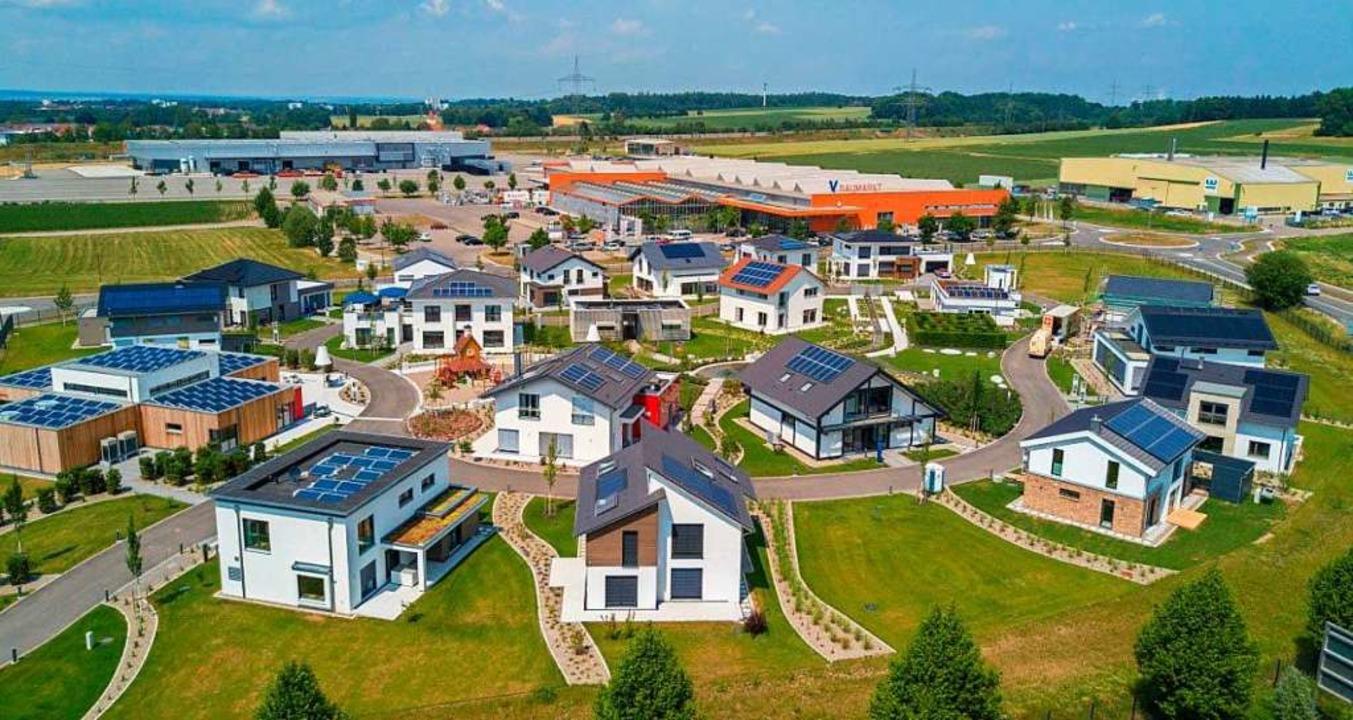 Ein Musterhauspark  wie hier in Günzbu... an der A5 bei Grafenhausen entstehen.  | Foto: Privat