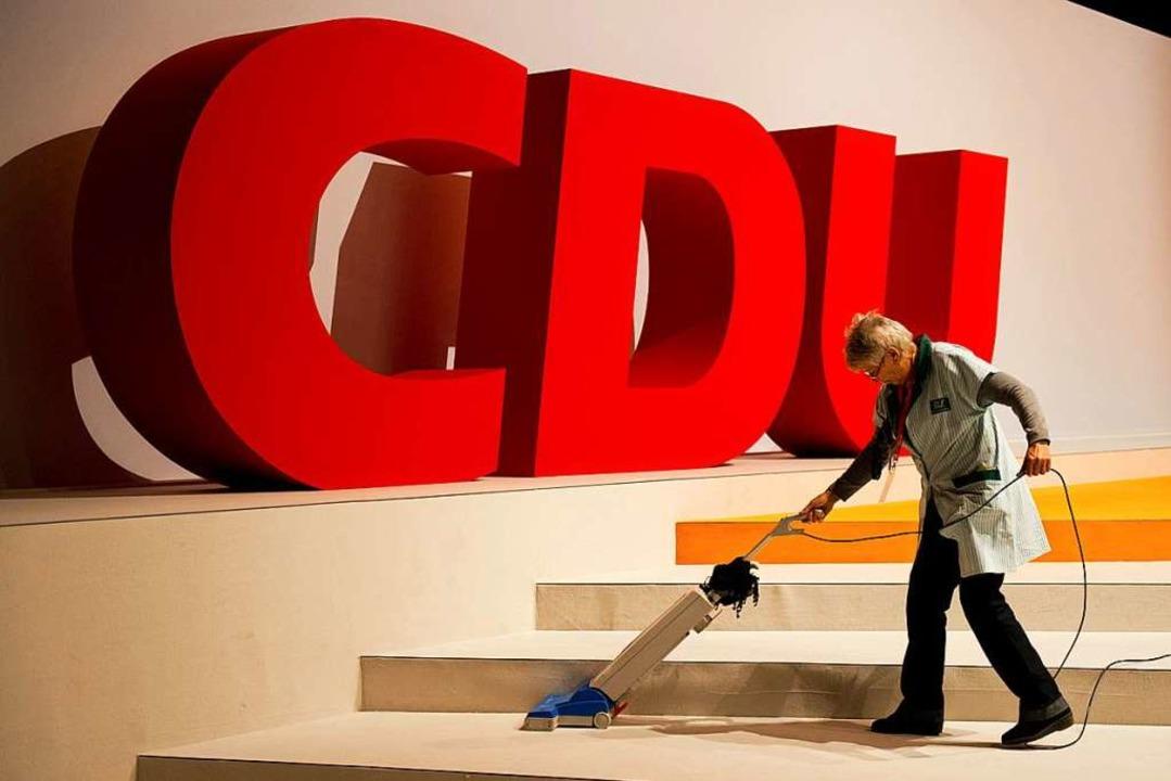 Am 4. Dezember soll alles fertig sein für den CDU-Parteitag (Archivbild).  | Foto: Jochen Lübke
