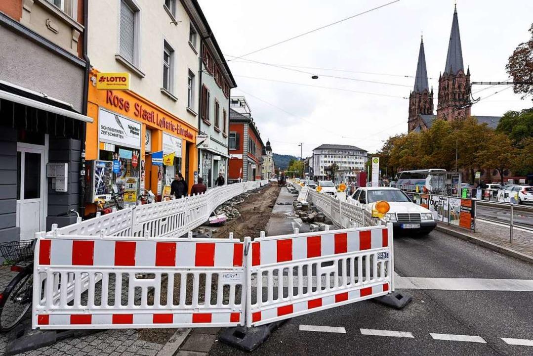Entlang der Günterstalstraße entsteht ein neuer Radweg.  | Foto: Thomas Kunz