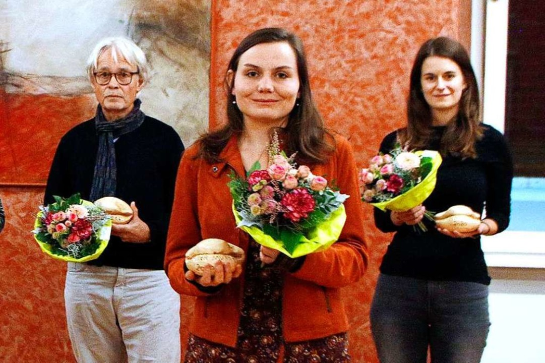 Preisträger Gottfried Schweickhardt (v...), Kathrin Ruesch und Catharina Müller    Foto: Heidi Fößel