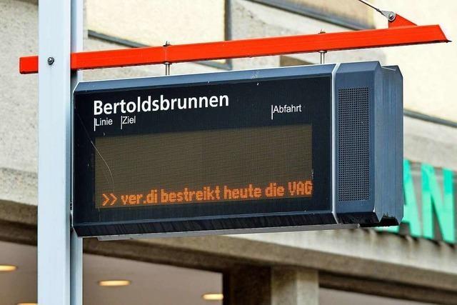 Verdi bestreikt die Freiburger Verkehrs-AG und die Hallenbäder