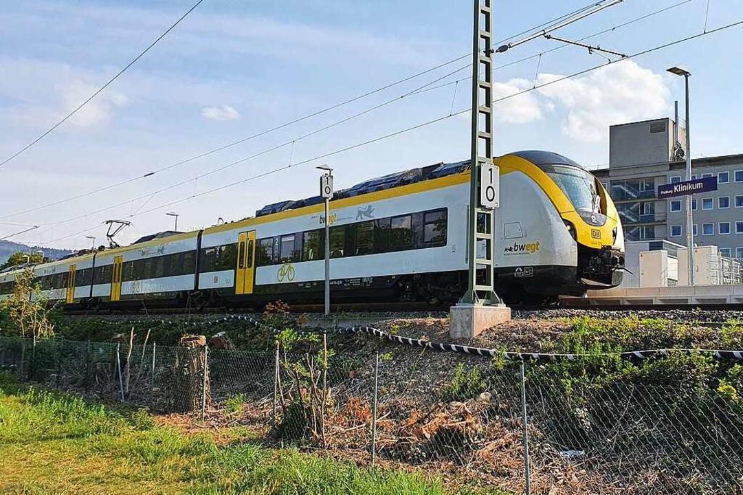 Die Breisgau-S-Bahn kam am Dienstag er...  und können  nicht eingesetzt werden.    Foto: Sebastian Wolfrum