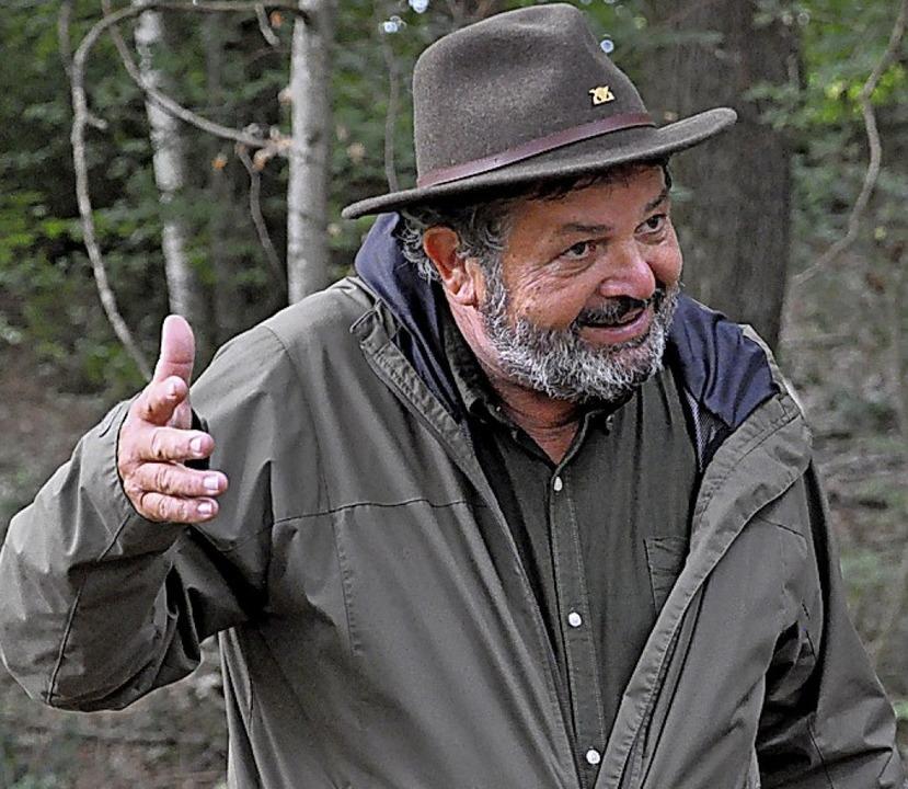 Reinhold Pix will weniger Holzproduktion und mehr Artenvielfalt.  | Foto: Ralf Strittmatter
