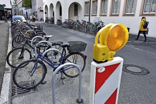 In der Freiburger Innenstadt gibt's 171 neue Radbügel und damit rund 7000 Radparkplätze