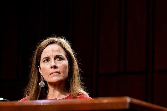 Supreme-Court-Kandidatin Barrett hält sich bei Streitfragen bedeckt