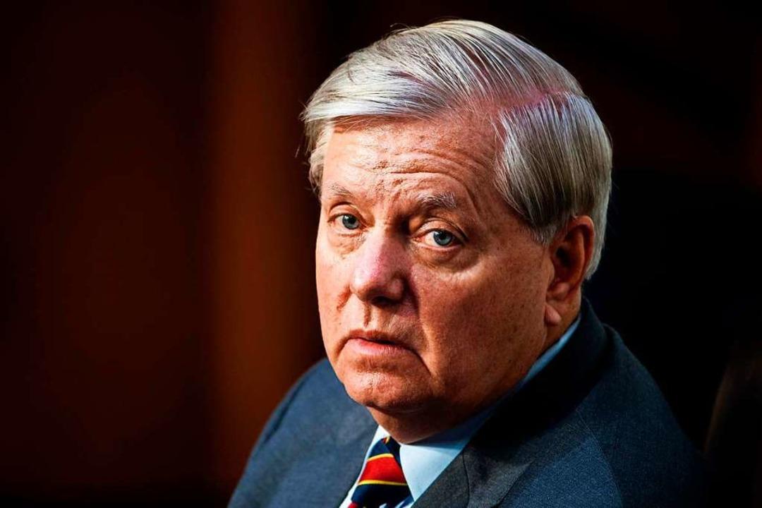 Senator Lindsey Graham, Vorsitzender des Ausschuss.  | Foto: JIM LO SCALZO (AFP)