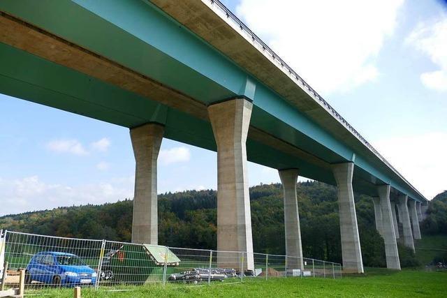 Die Sanierung der A98-Brücke zwischen Lörrach und Rheinfelden wird Monate dauern