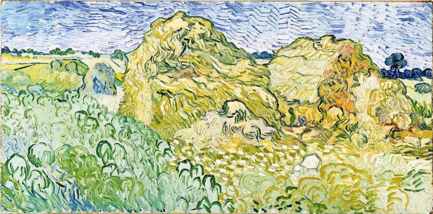 Vincent van Gogh, Feld mit Getreideschobern, 1950  | Foto: Fondation Beyeler