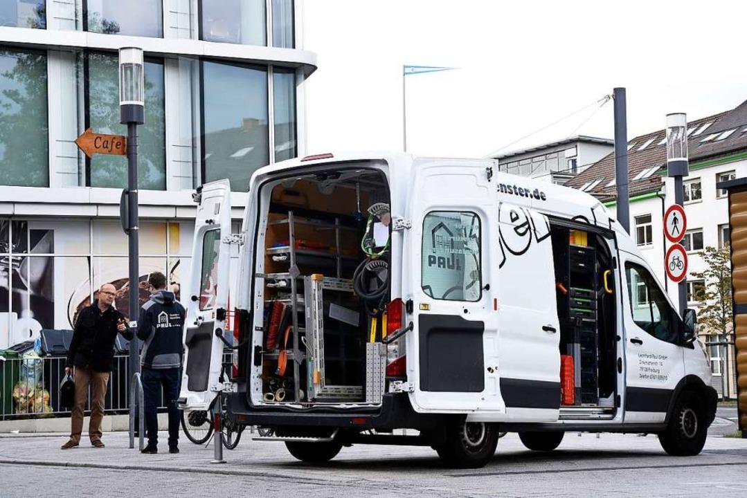 Ein Montage-Wagen der Fensterbaufirma Leonhard Paul  | Foto: Thomas Kunz