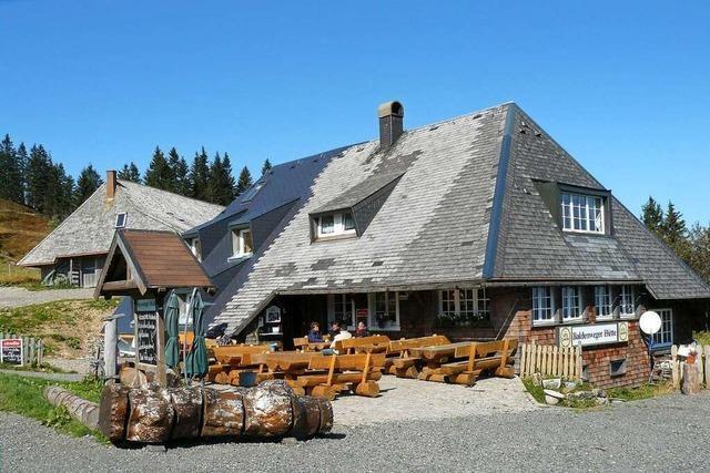 Blick ins Tal und zum Feldberg von der Baldenweger Hütte